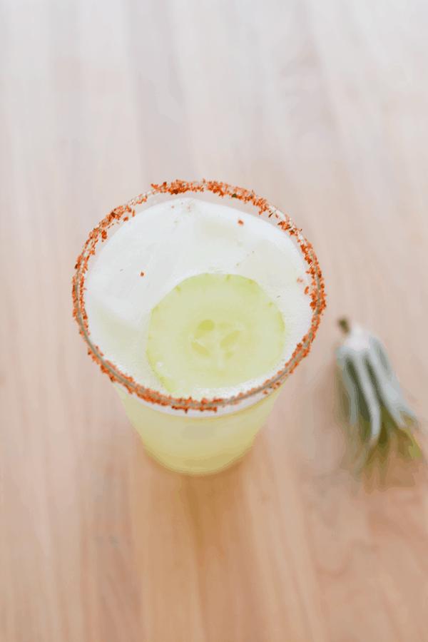 Delicious cucumber margarita recipe. #TequilaDay