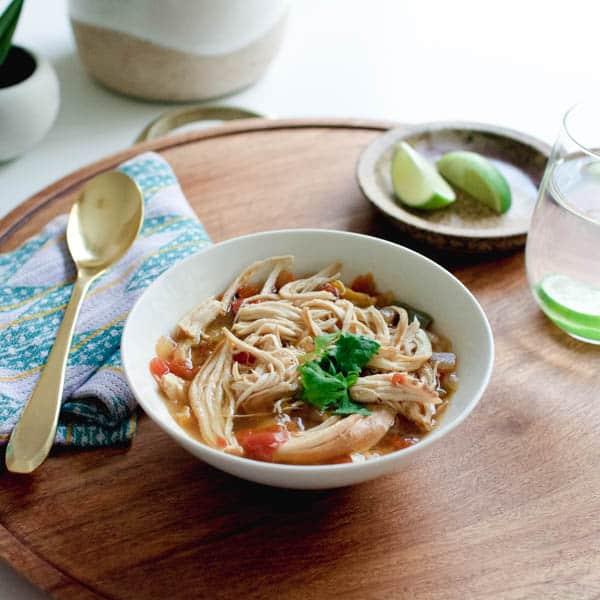 Easy Slow Cooker Chicken Fajita Soup Recipe