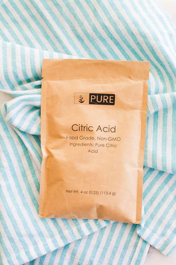 citric acid for making homemade fun dip