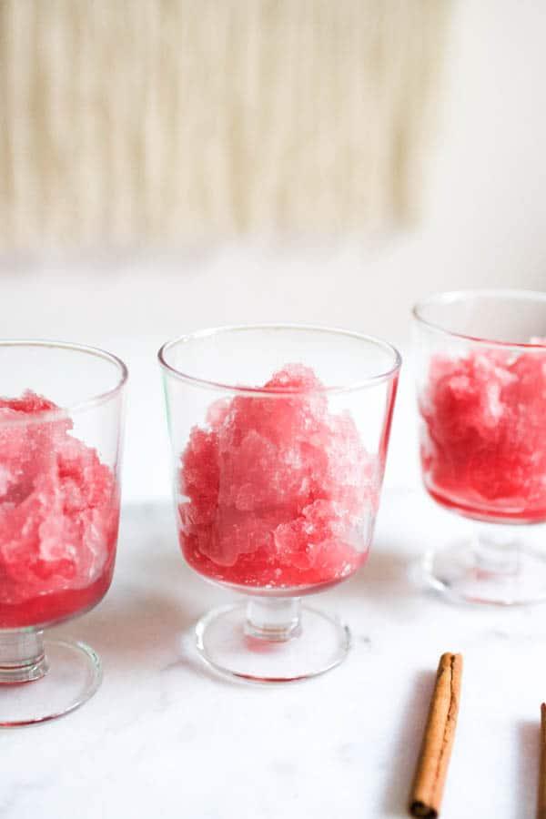 Festive Cranberry Slush with Vodka