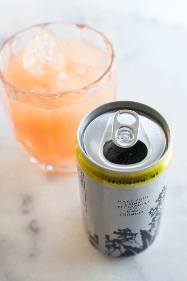 can of tonic for Grapefruit Vodka Tonic Recipe